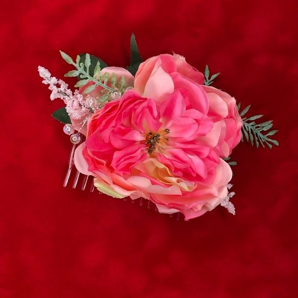 Accessories pink silk flower hair comb poshmark pink silk flower hair comb mightylinksfo